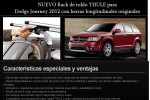 NUEVO Rack de toldo THULE para Dodge Journey 2012 con barras longitudinales originales
