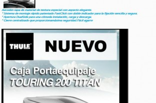 PORTAEQUIPAJE TOURING 200 TITÁN THULE